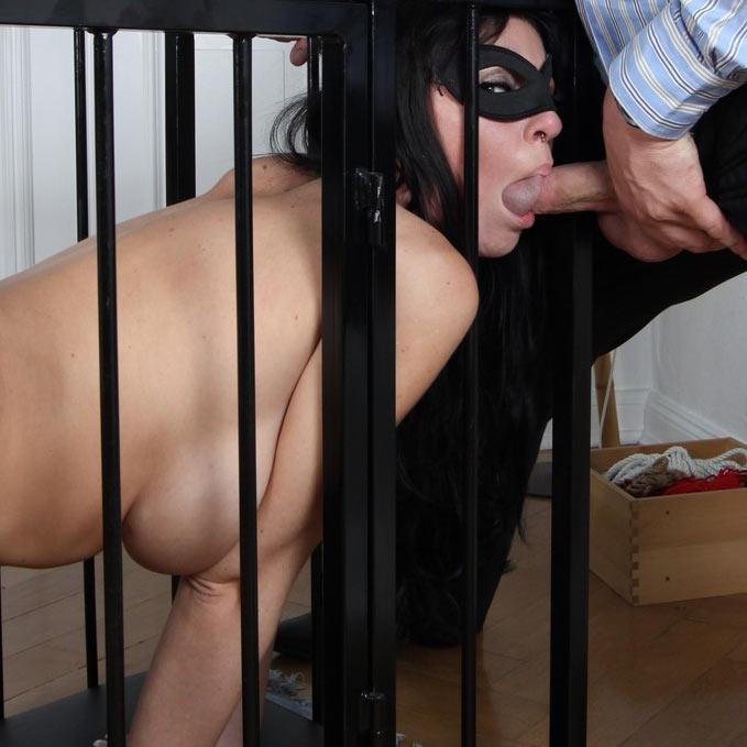 Gina Bang, caged and used at Magma Film.