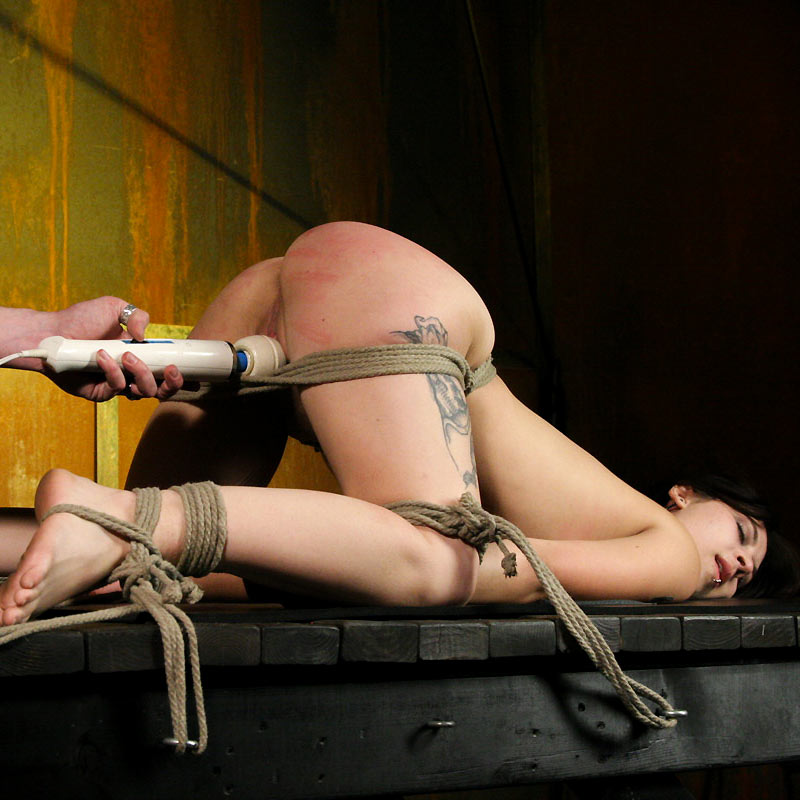 Cat Savage nude and roped at Society SM