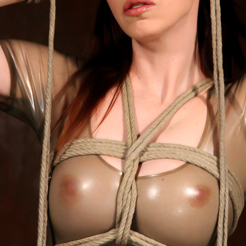 Emily Marilyn in her tight latex dress is a perfect slave.