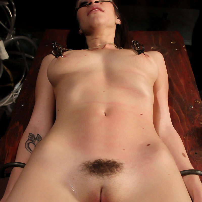 Sasha Sweet, nude and clipped at strict-restraint.