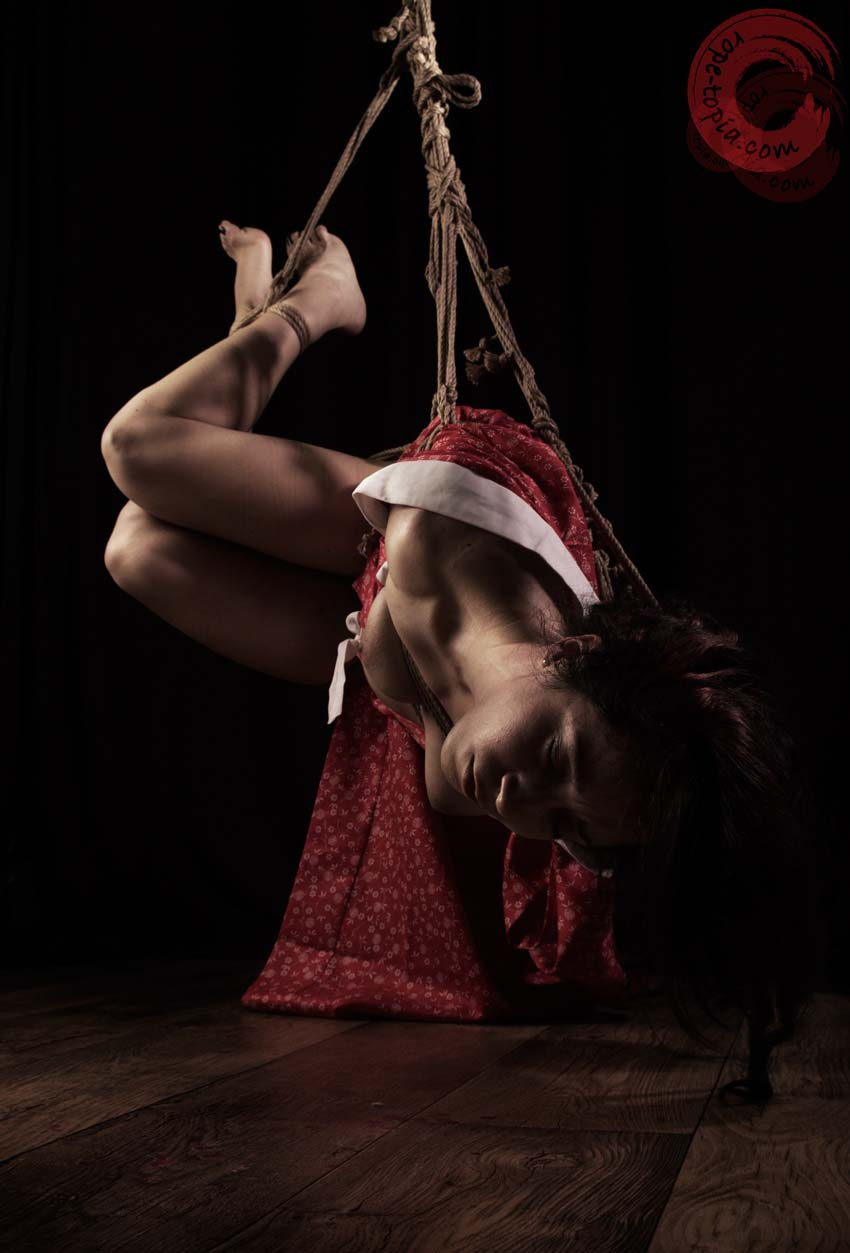 Cheeky KO shibari shoot June 2014. Photo by Clover. Bondage by WykD Dave.