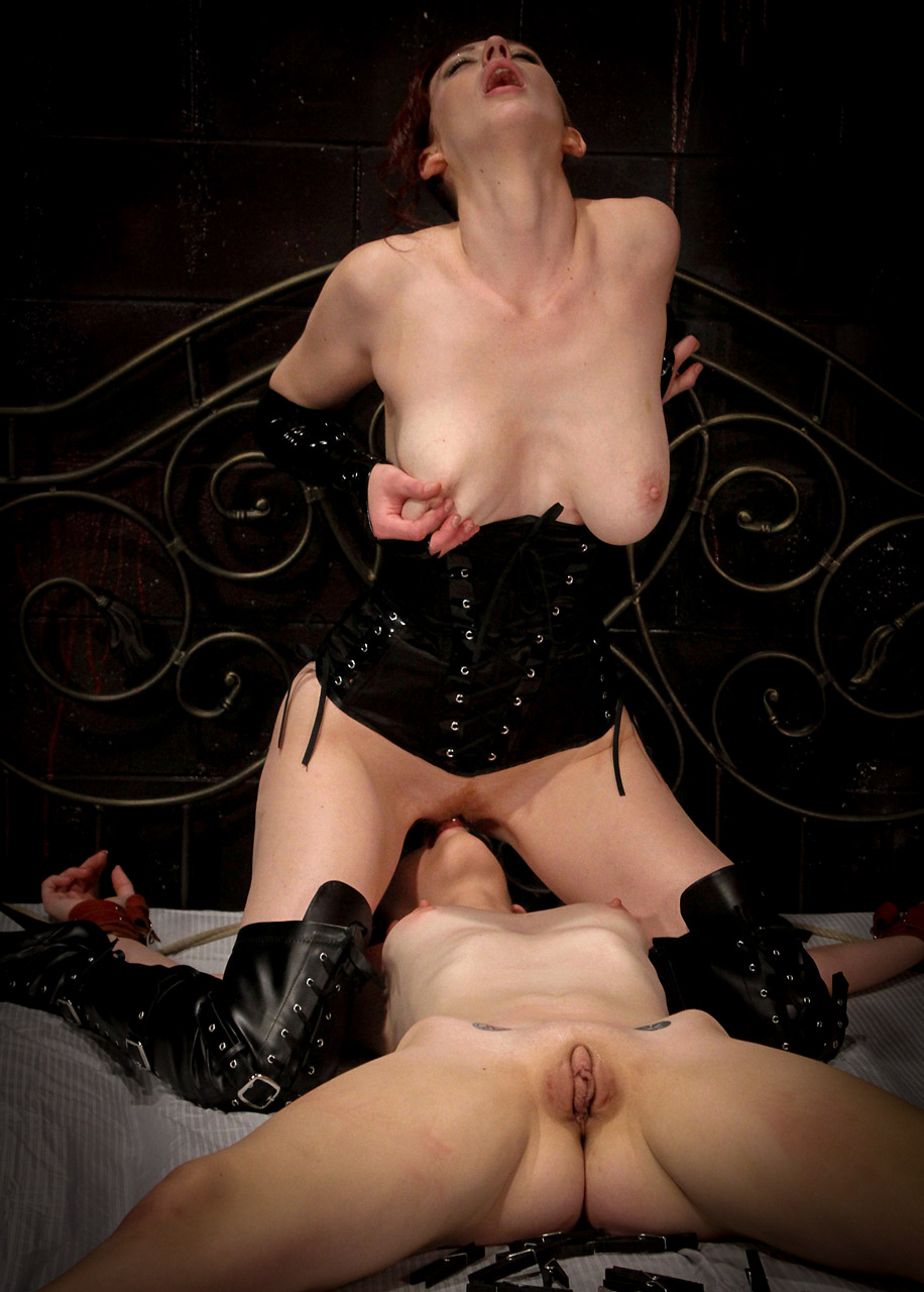 Holly Wood and Pepper Kester nude FemDom Bondage at Society SM.