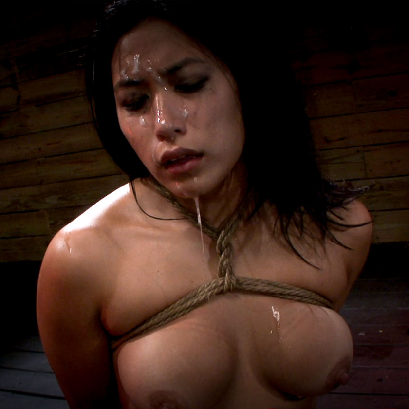 Tied and Gagged | Mia Li nude in a bdsm video. Rope bondage at SexualDisgrace.