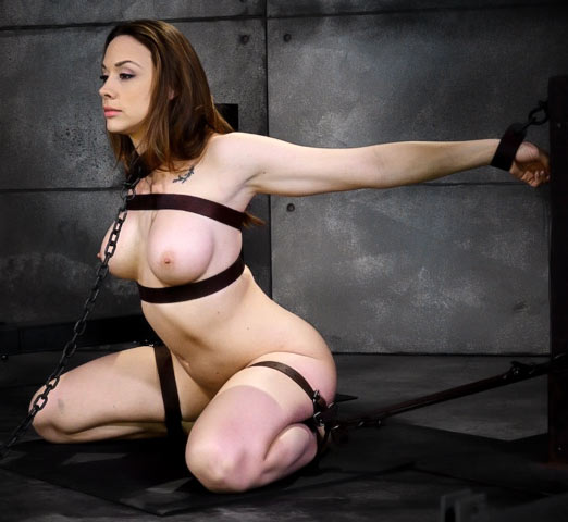 Chanel Preston, nude in Device Bondage in the BDSM video Breaking Sex Machine by SexuallyBroken.