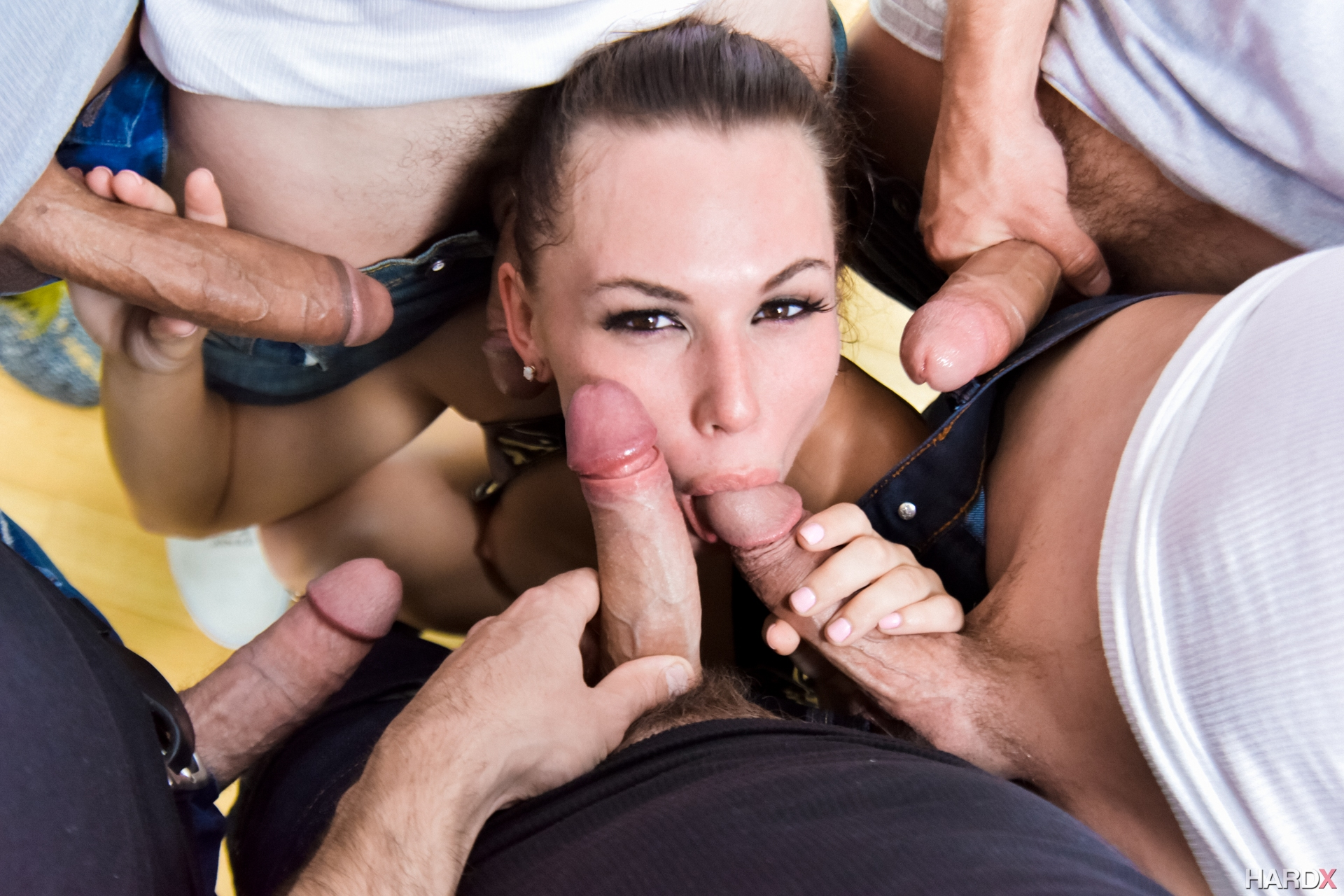 Slut taking cock in every hole, hardcore sex a