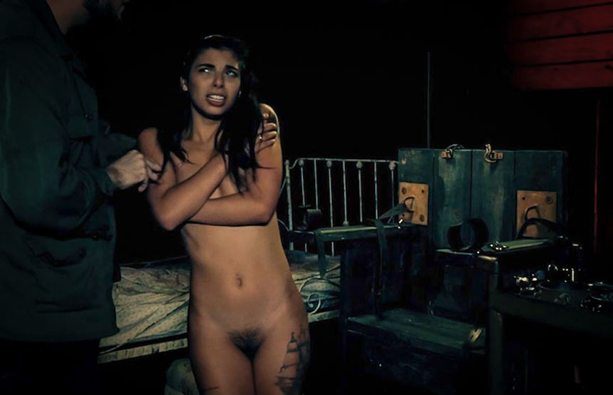 HostelXXX Gina Valentina, a nude teen dominated in a BDSM fetish video from FetishNetwork.