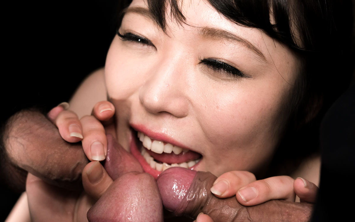 Yui Kawagoe nude in the uncensored video Yui Kawagoe Gives Sloppy Cum Covered Blowjob from SpermMania.
