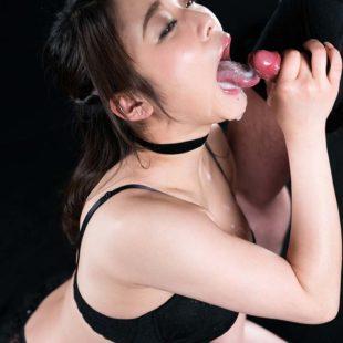 Bukkake in her mouth.