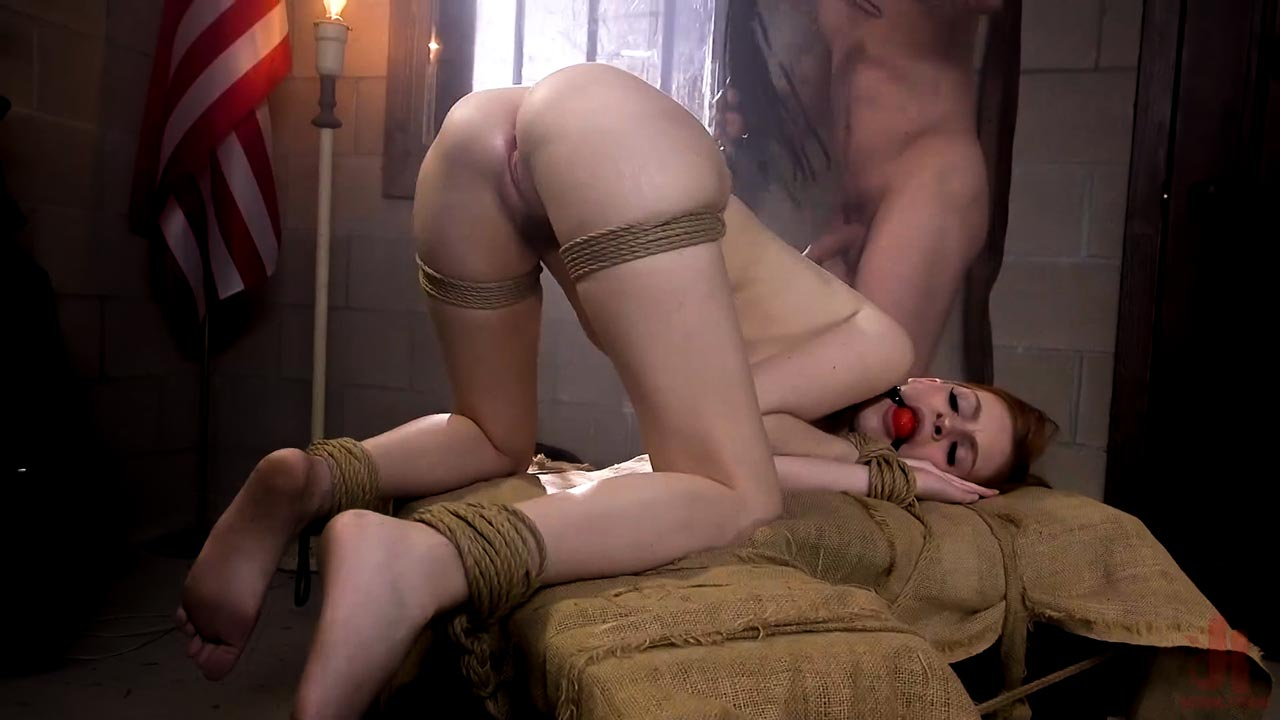 Maya Kendrick nude, flogged and bound. The nude girl is forced to Anal Sex in the BDSM video Prison Paralegal from Sex and Submission.