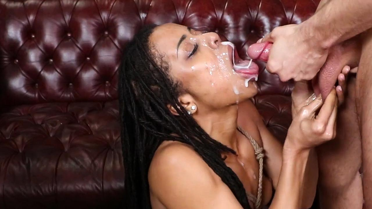 Kira Noir Cock Crazy, a Bound Gangbang Bondage Double Penetration BDSM video.