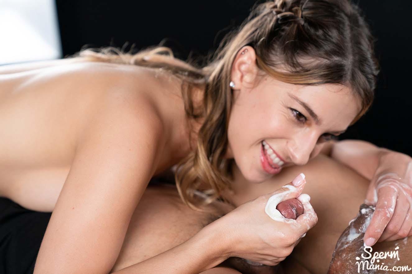 Kristen Scott Strokes with Cum. An uncensored Cum Handjob video from Sperm Mania.