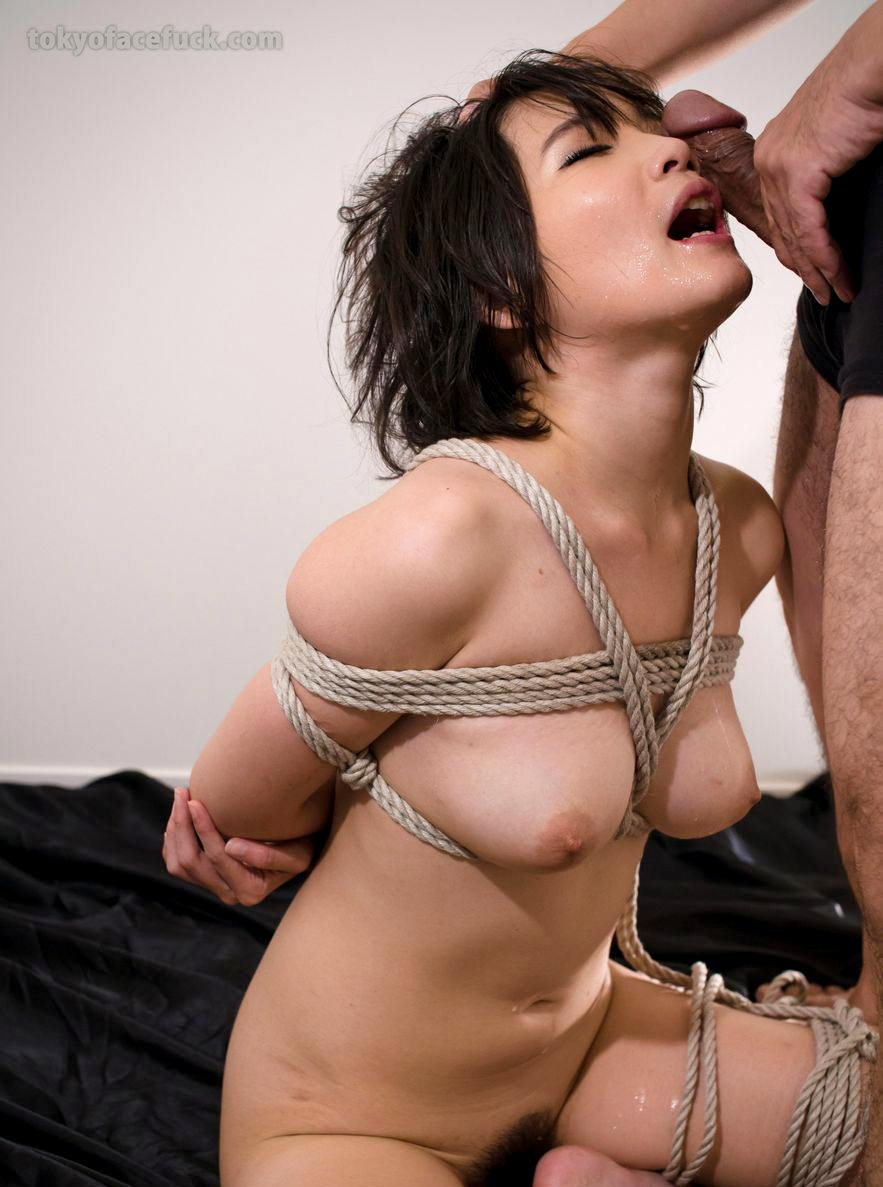 Akari Misaki, a nude girl face fucked in Bondage. An uncensored BDSM video from TokyoFaceFuck.