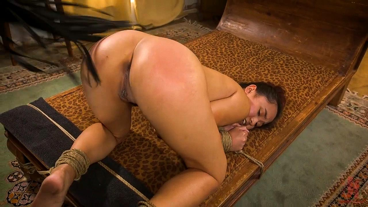 Elle Voneva, nude in a spanking anal bdsm video from Sex and Submission.