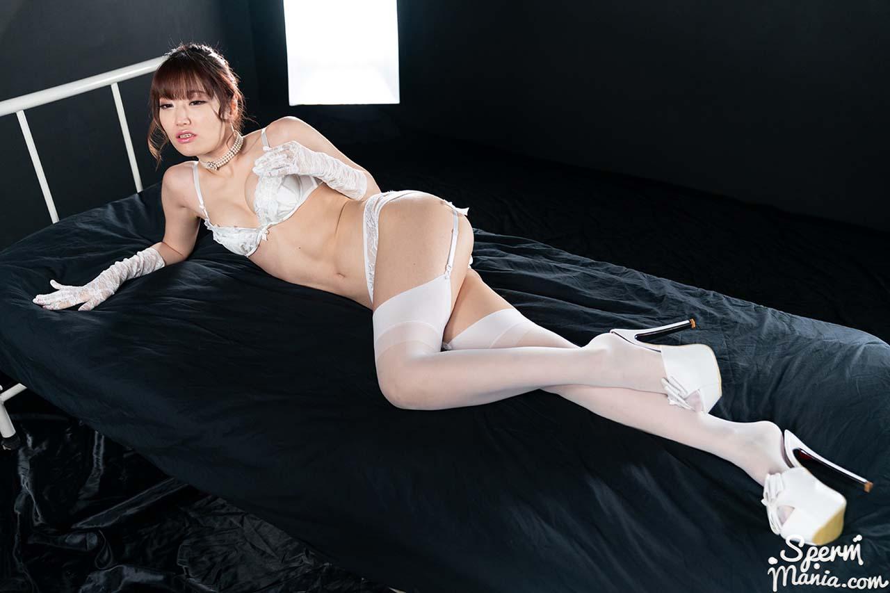 "Mizuki nude in ""Mizuki's Cum Covered Pussy Fucked"", an uncensored SpermMania Creampie Porn video."