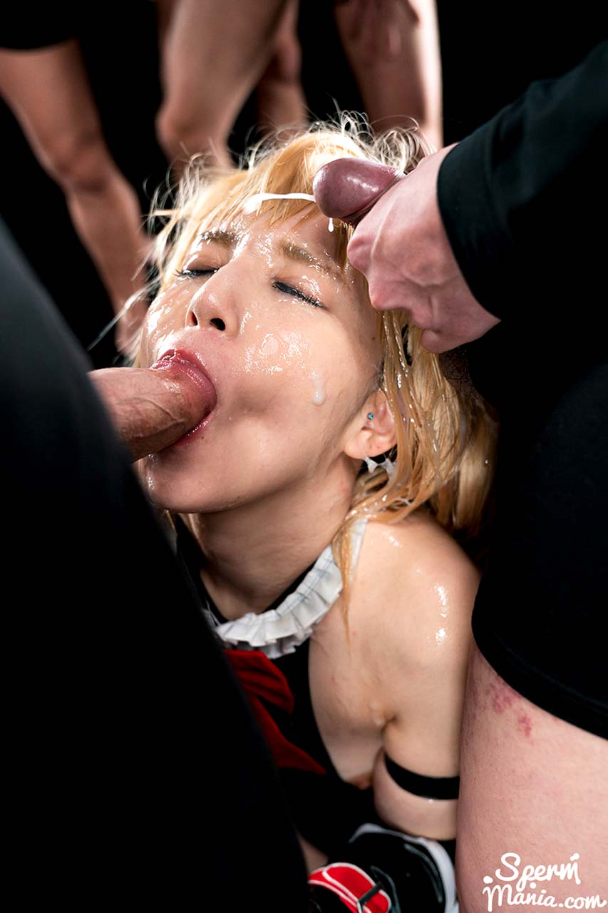 Mary Bukkake Facial porn from Japan. The uncensored video